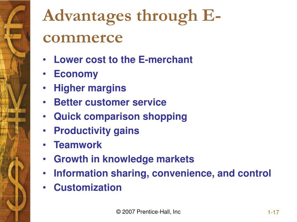 Advantages through E-commerce