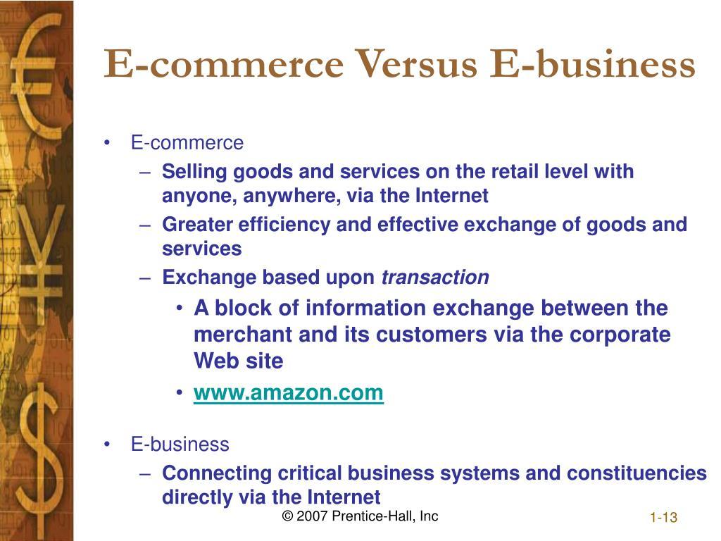 E-commerce Versus E-business