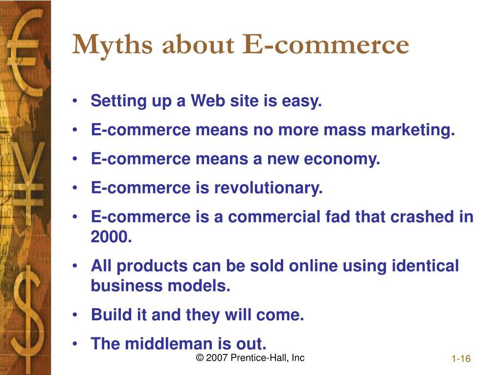 Myths about E-commerce