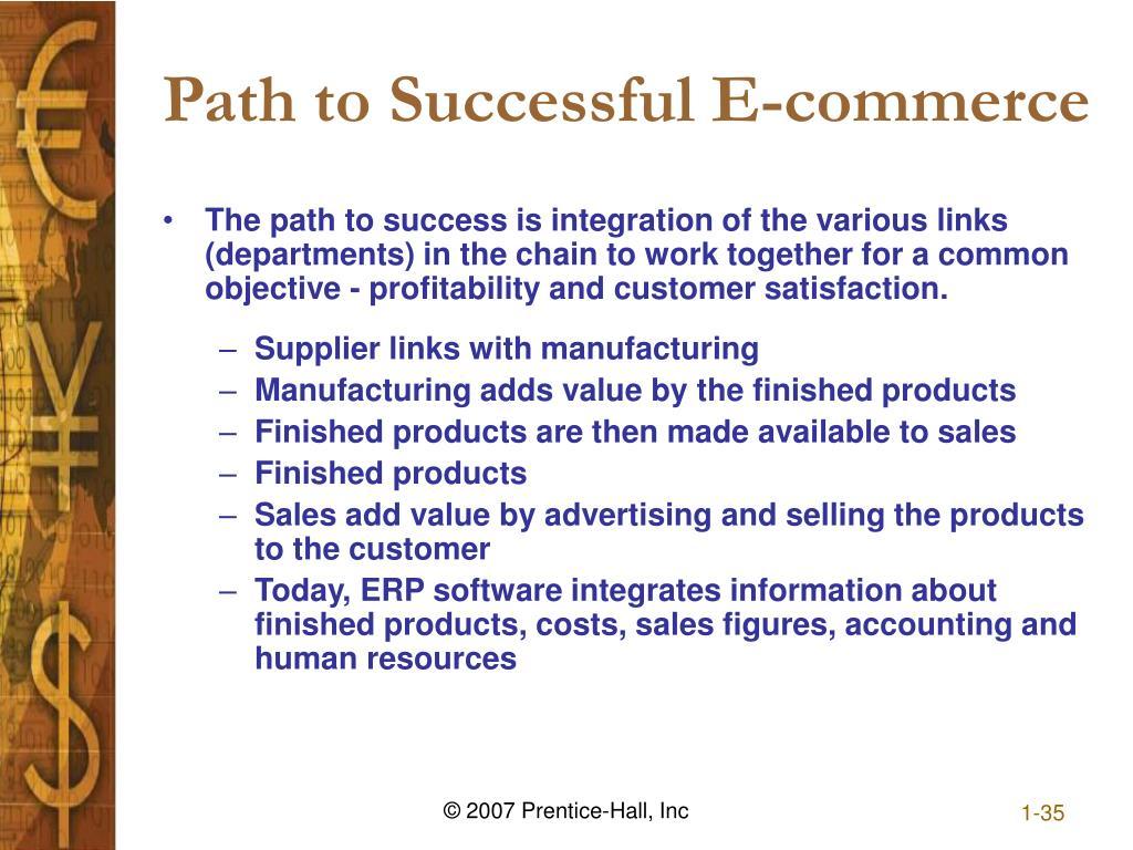 Path to Successful E-commerce