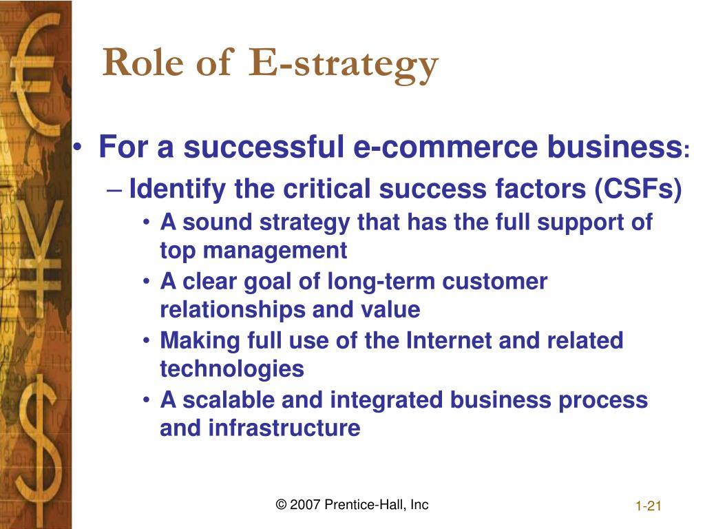 Role of E-strategy