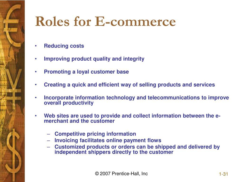 Roles for E-commerce