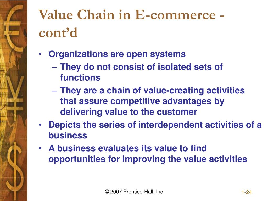 Value Chain in E-commerce - cont'd