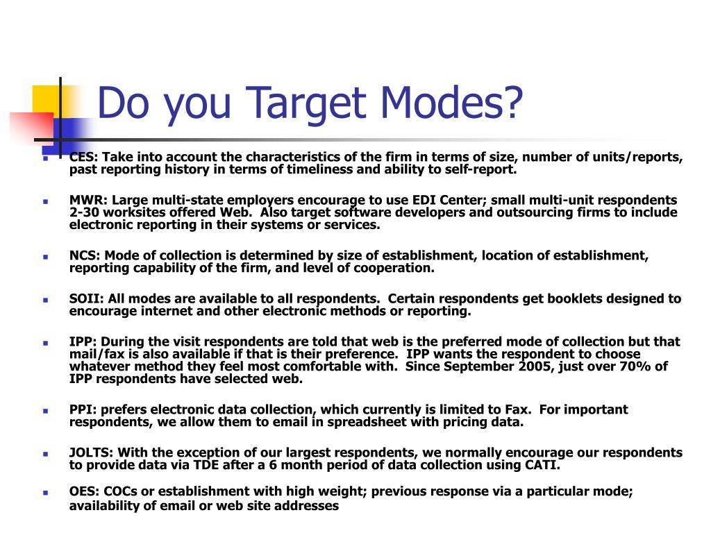 Do you Target Modes?