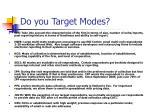 do you target modes