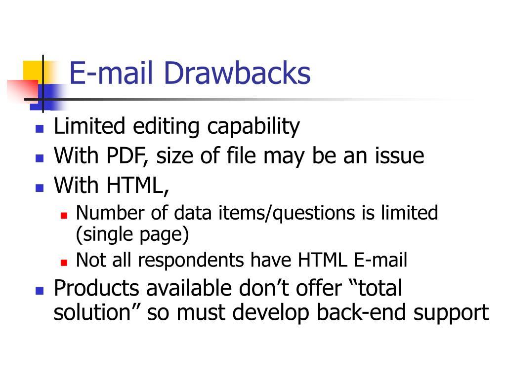 E-mail Drawbacks