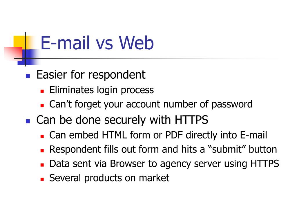 E-mail vs Web