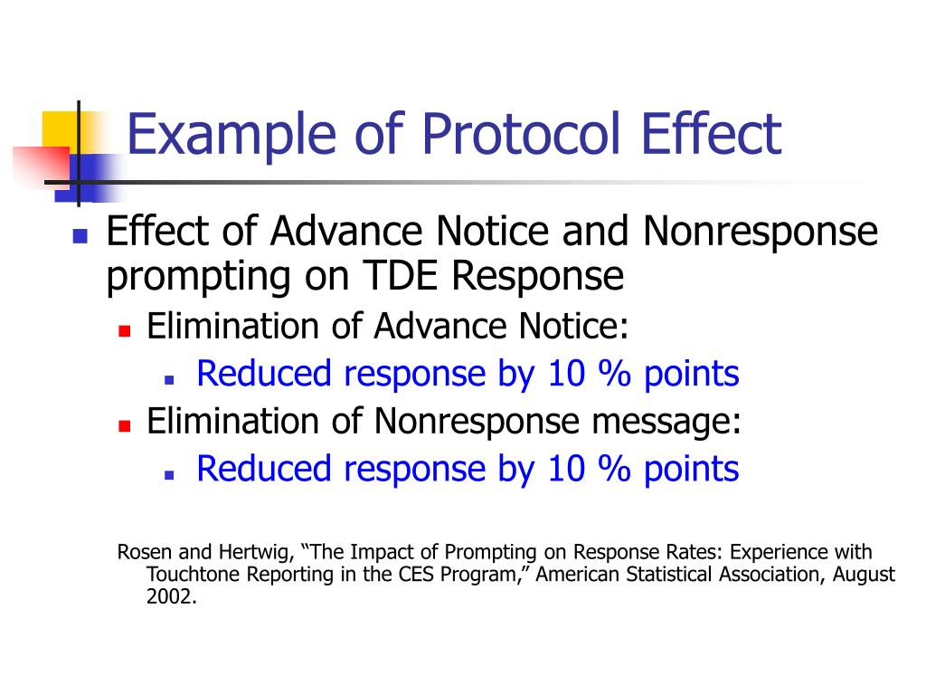 Example of Protocol Effect
