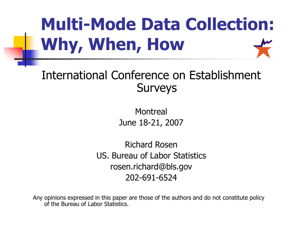 multi mode data collection why when how