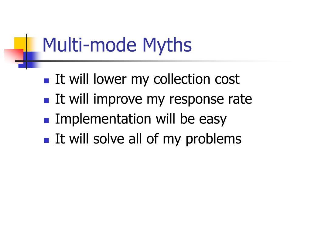 Multi-mode Myths
