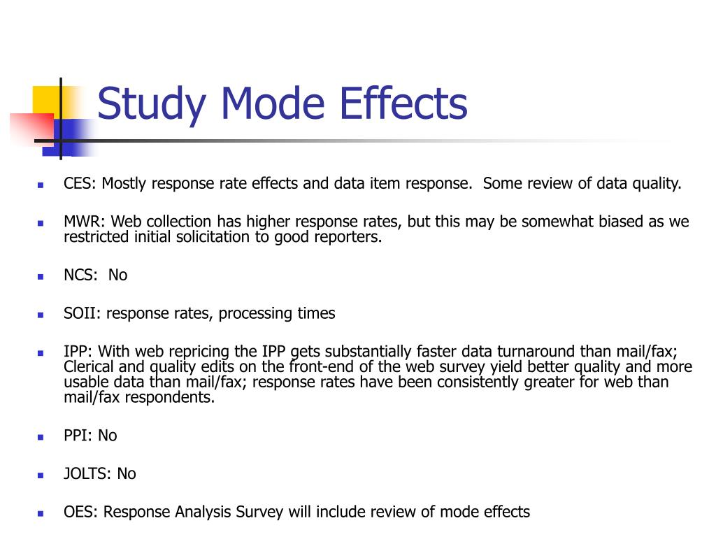 Study Mode Effects