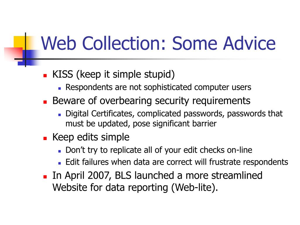 Web Collection: Some Advice