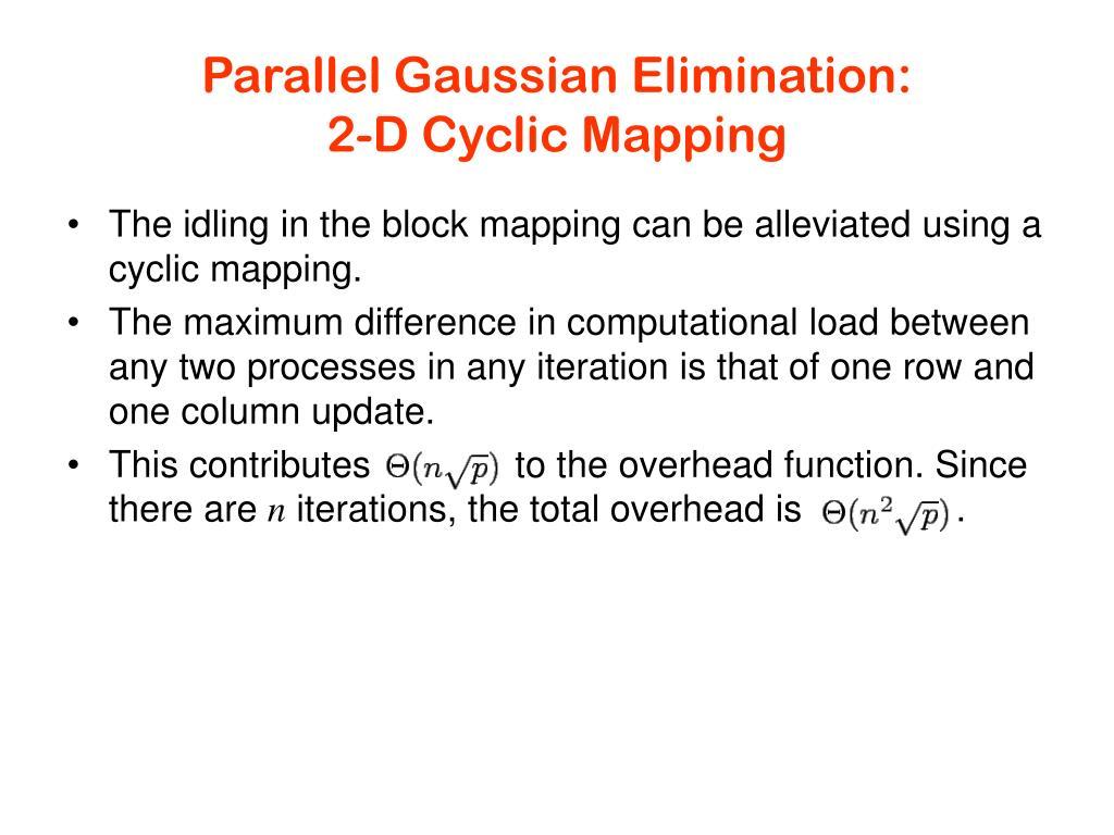 Parallel Gaussian Elimination: