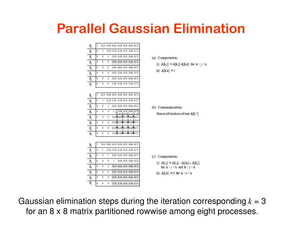 Parallel Gaussian Elimination