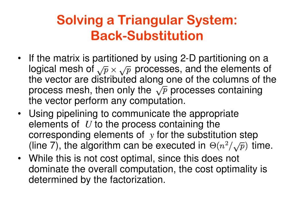 Solving a Triangular System: