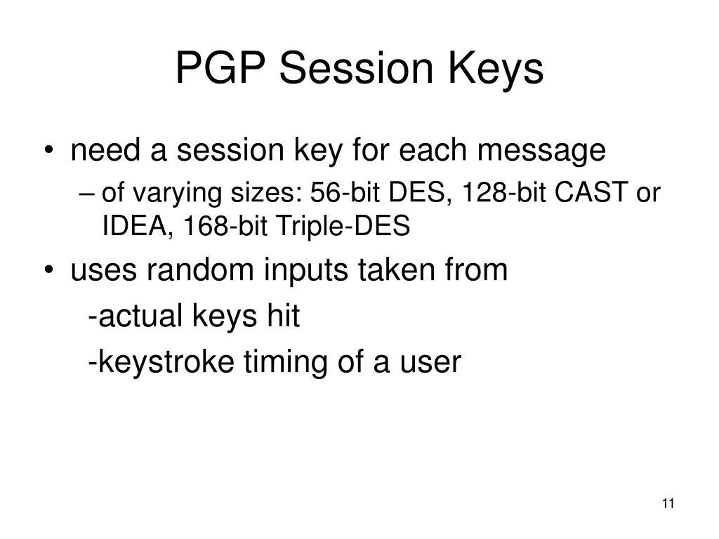 PGP Session Keys