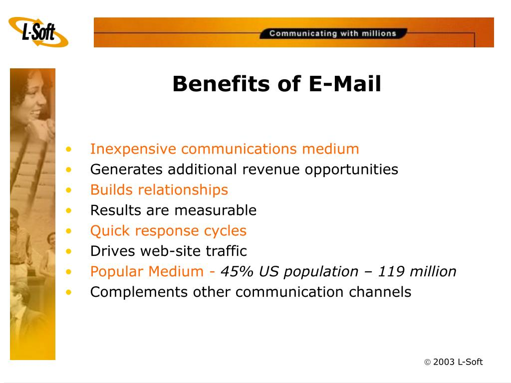 Benefits of E-Mail