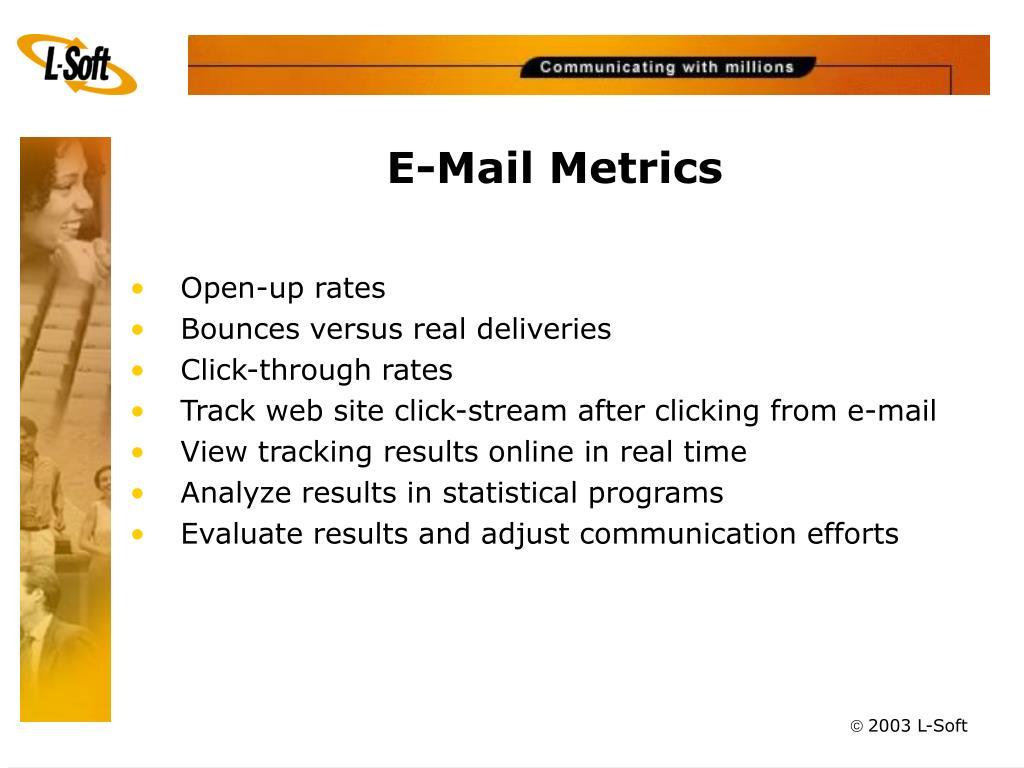 E-Mail Metrics