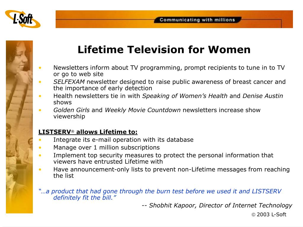 Lifetime Television for Women