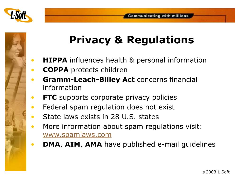 Privacy & Regulations