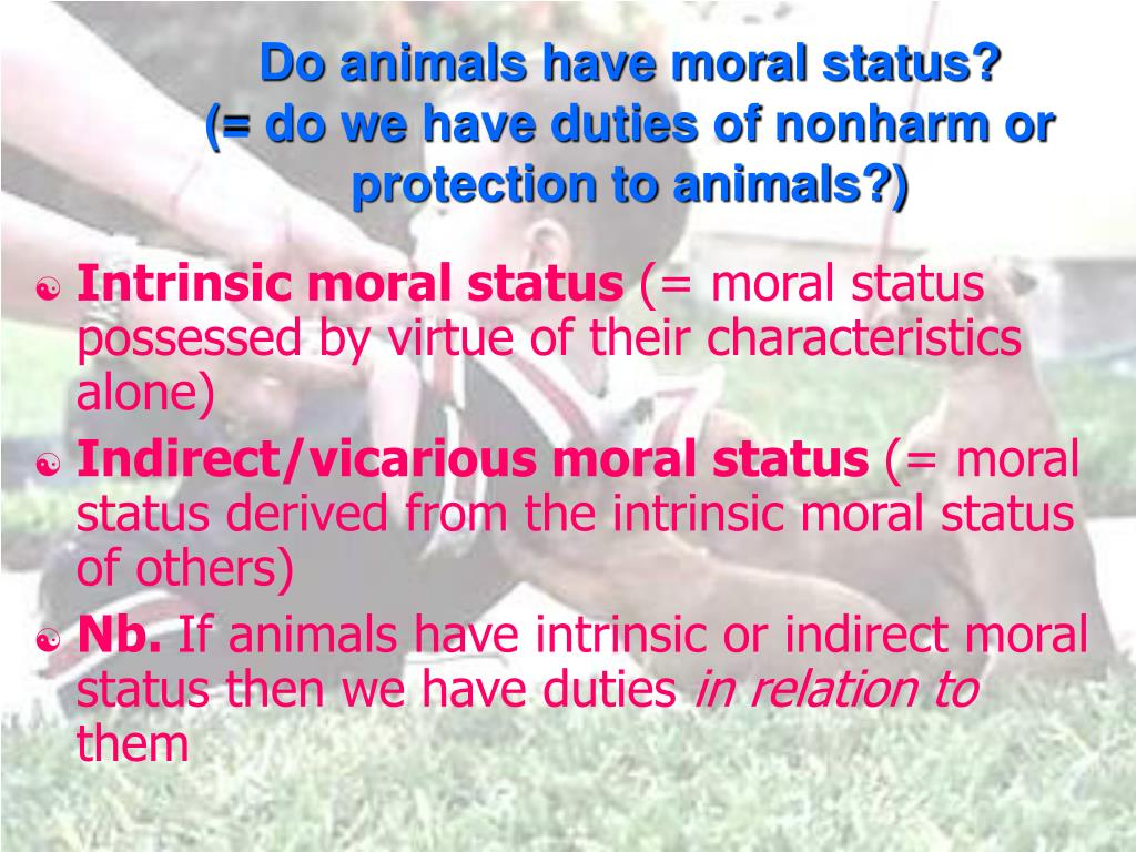 Do animals have moral status?