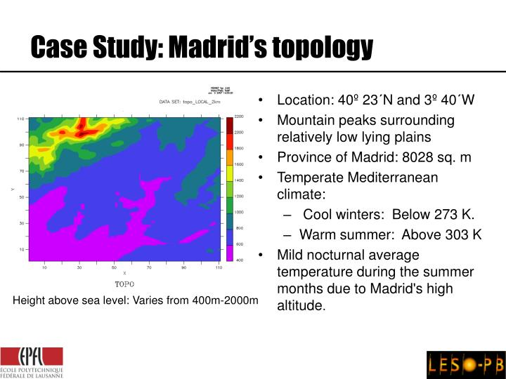 Case Study: Madrid's topology