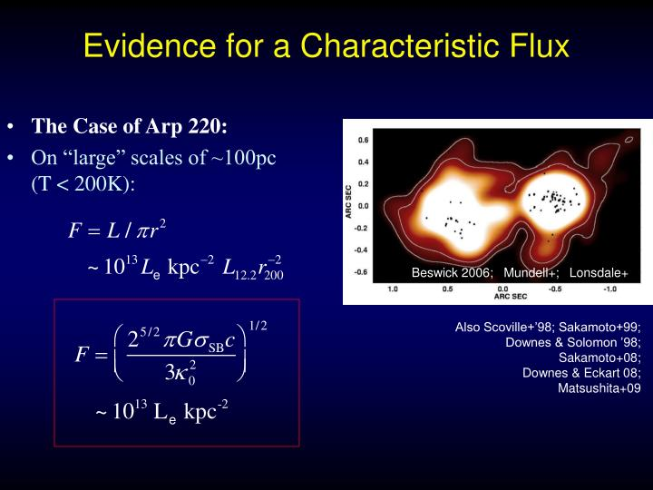 Evidence for a Characteristic Flux