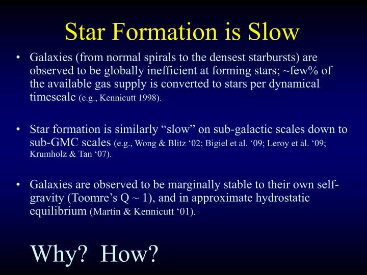 Star formation is slow
