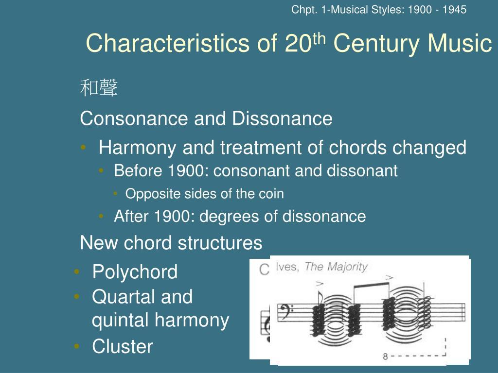 Chpt. 1-Musical Styles: 1900 - 1945