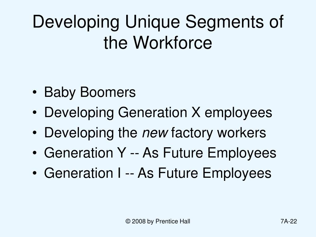 Developing Unique Segments of the Workforce