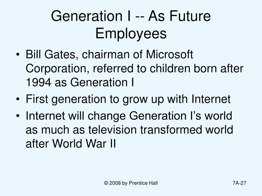 Generation I -- As Future Employees