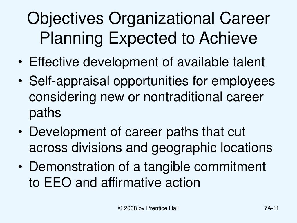 Objectives Organizational Career Planning Expected to Achieve