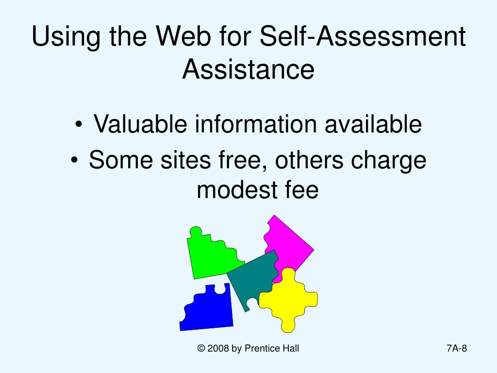 Using the Web for Self-Assessment Assistance
