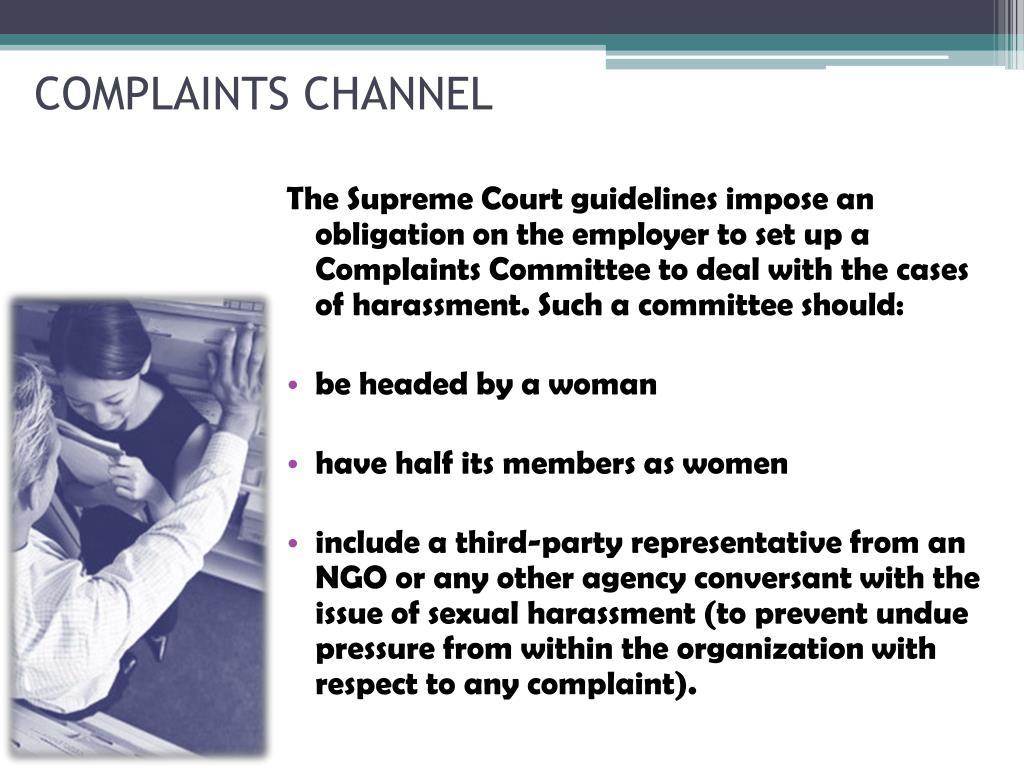 COMPLAINTS CHANNEL