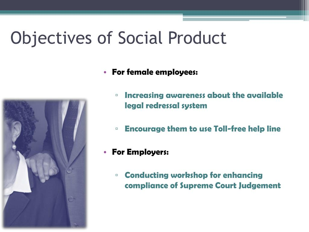 Objectives of Social Product