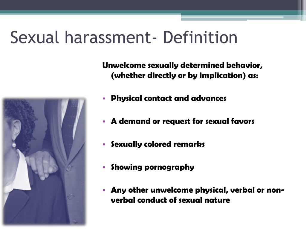 Sexual harassment- Definition