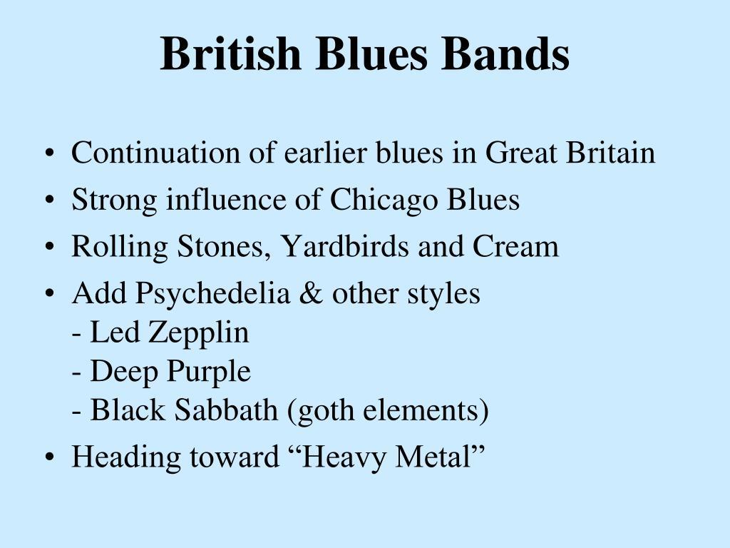 British Blues Bands
