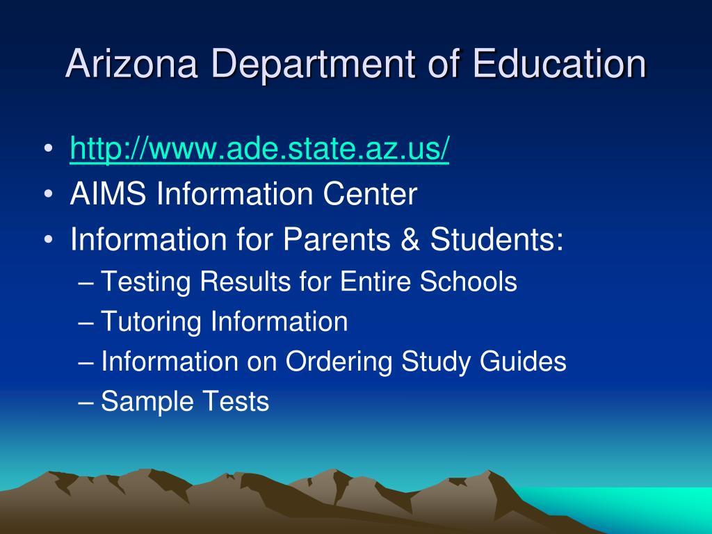 Arizona Department of Education