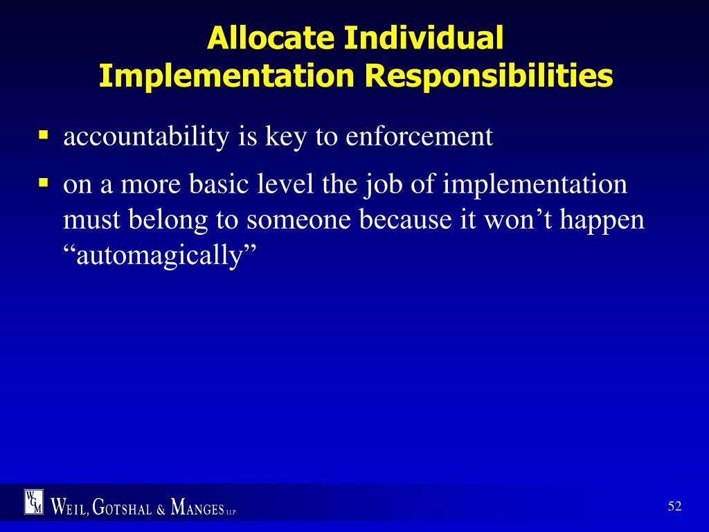 Allocate Individual