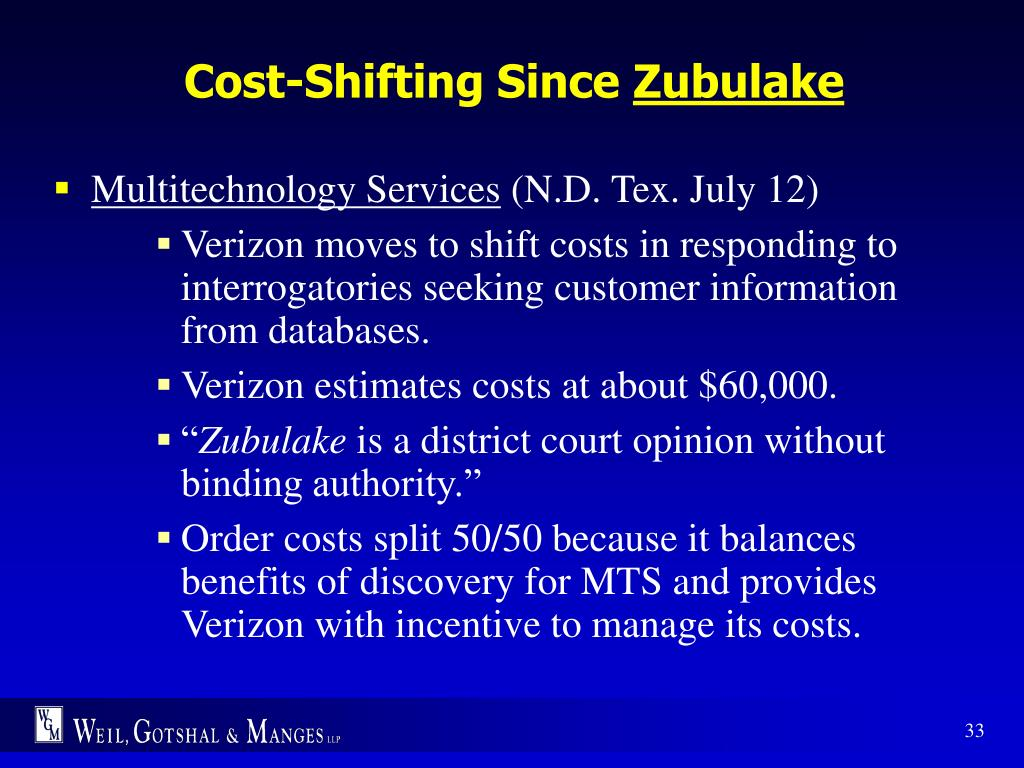 Cost-Shifting Since