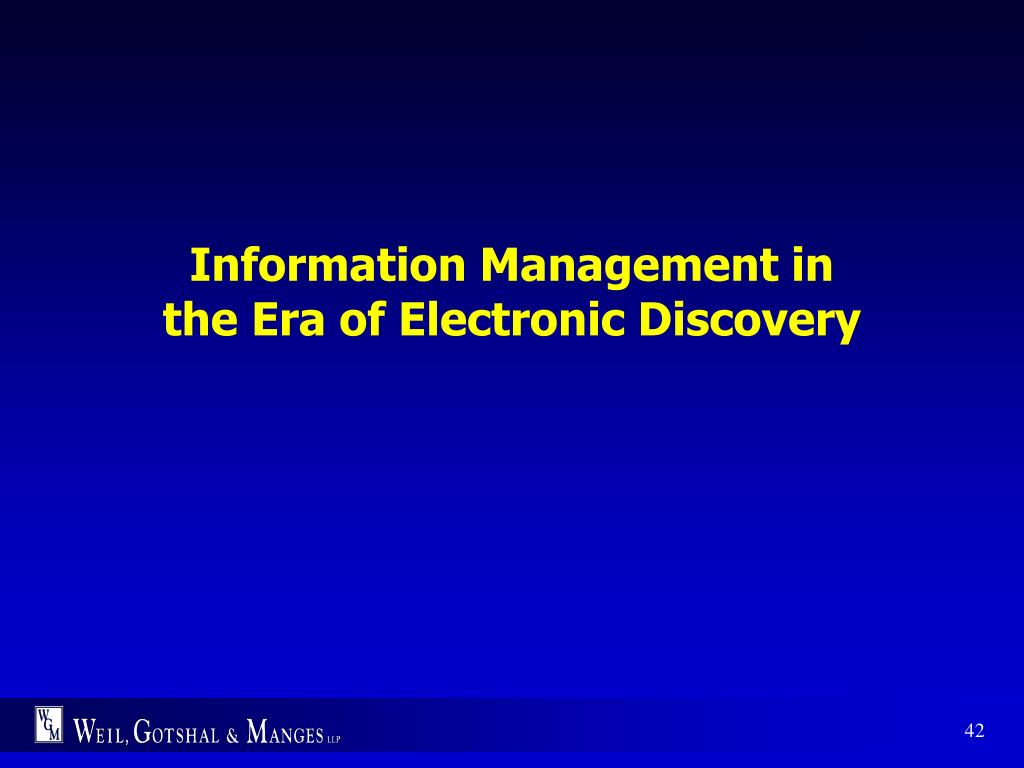 Information Management in