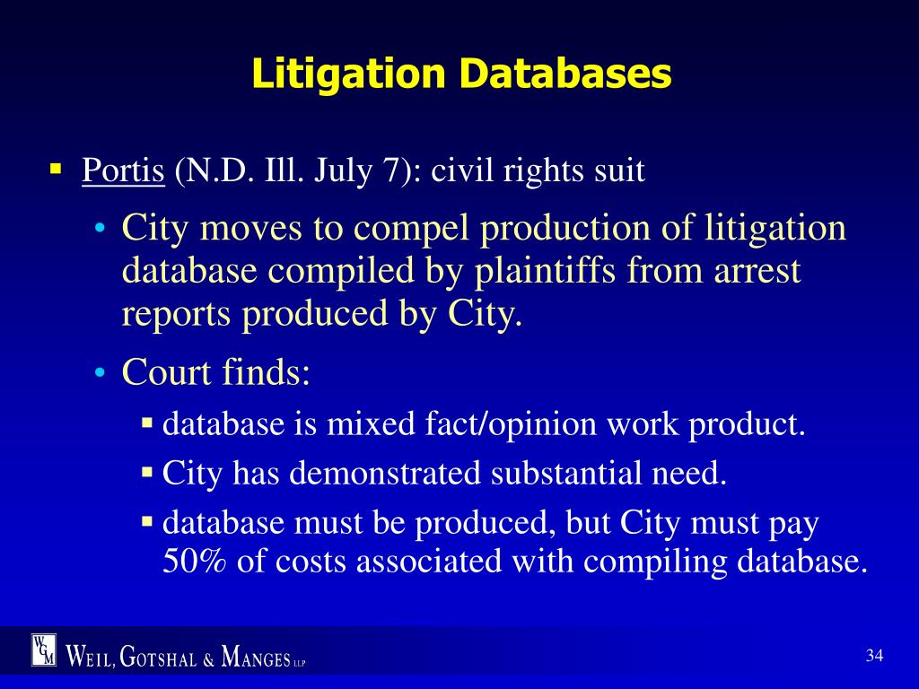 Litigation Databases