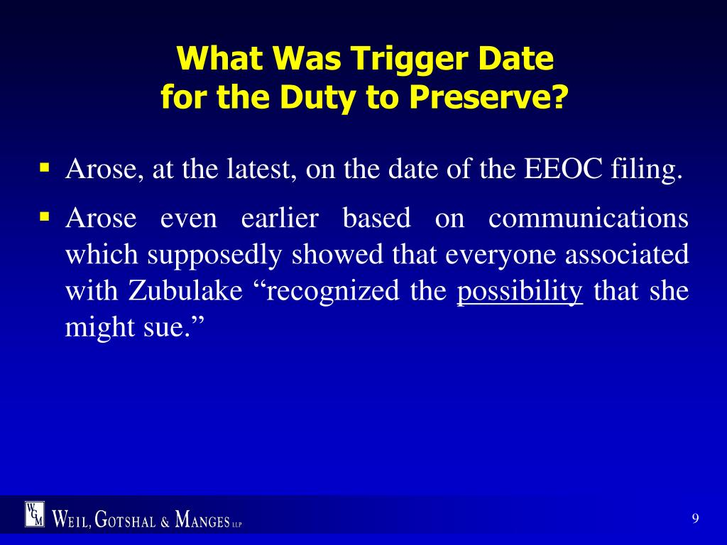 What Was Trigger Date