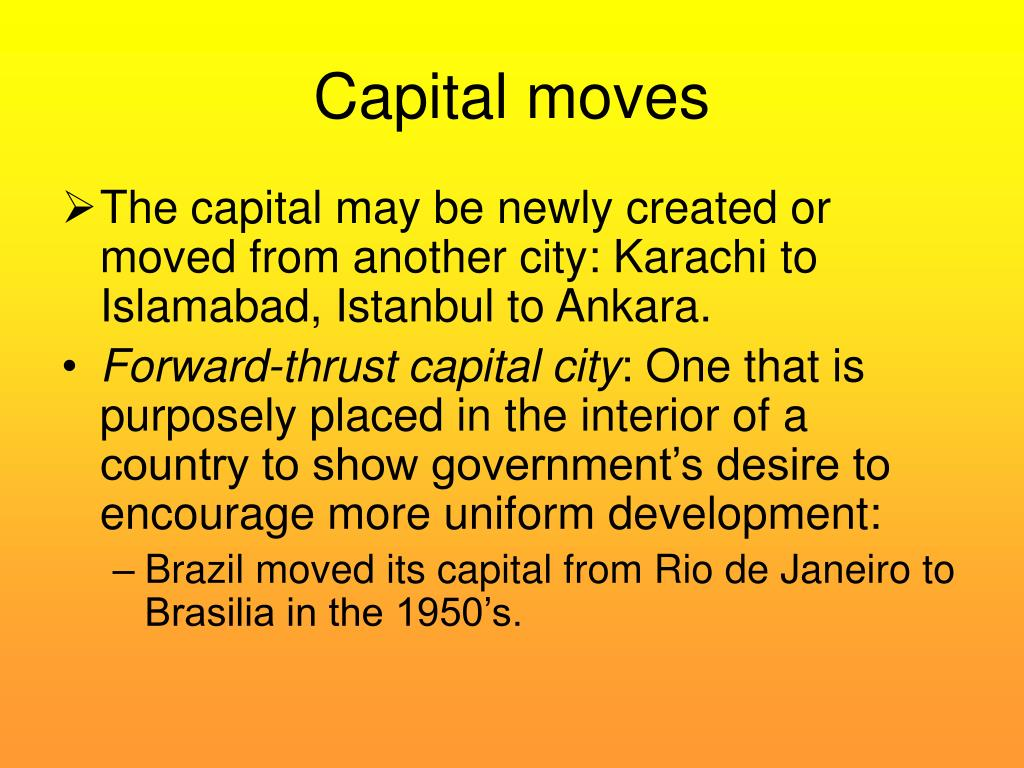Capital moves