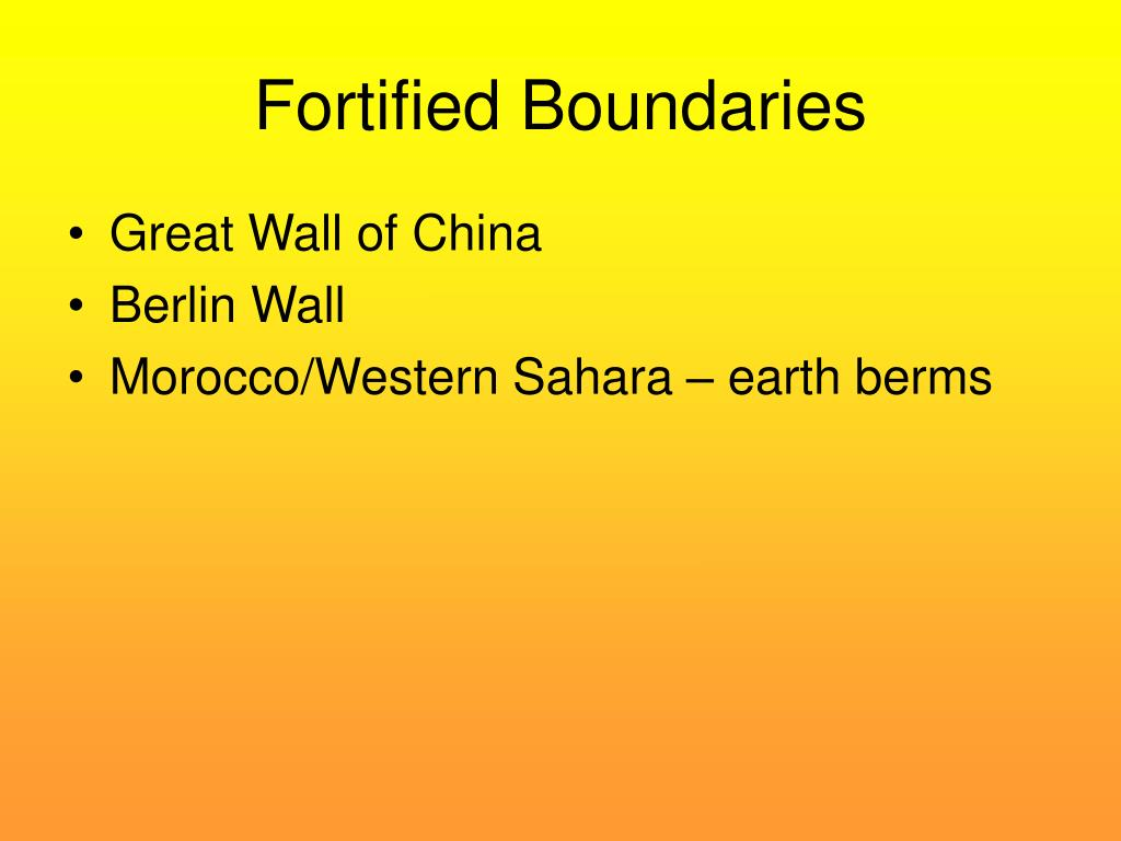 Fortified Boundaries