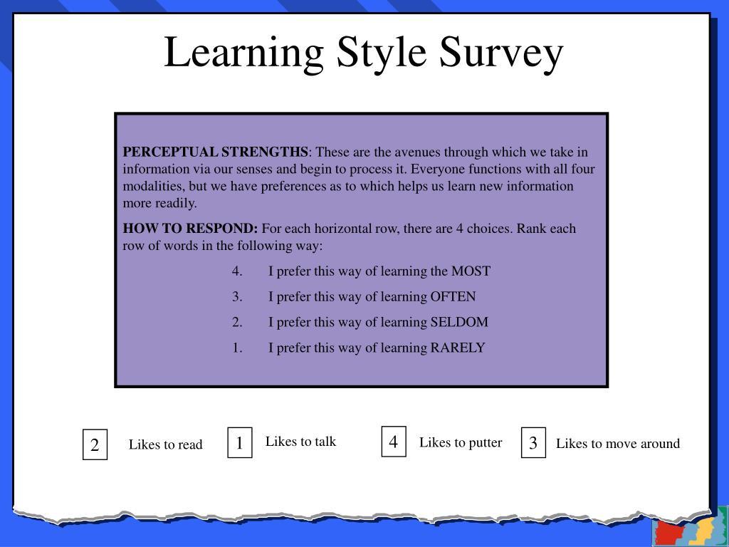 Learning Style Survey