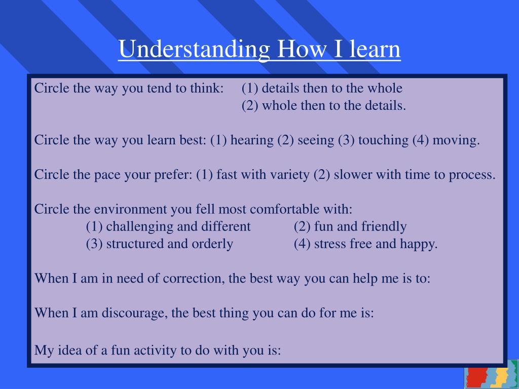 Understanding How I learn