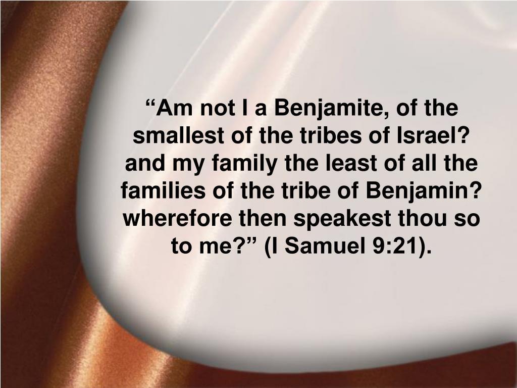 I Samuel 9:21