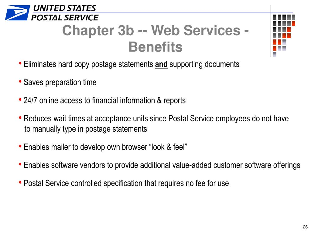 Chapter 3b -- Web Services - Benefits
