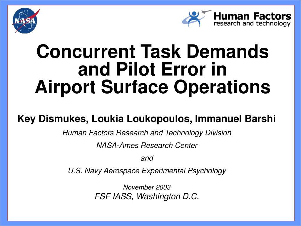 Concurrent Task Demands